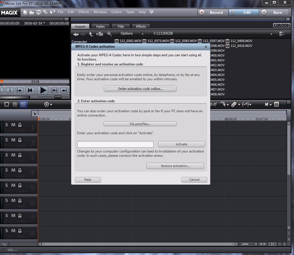 magix movie edit pro 2015 mpeg 4 activation code