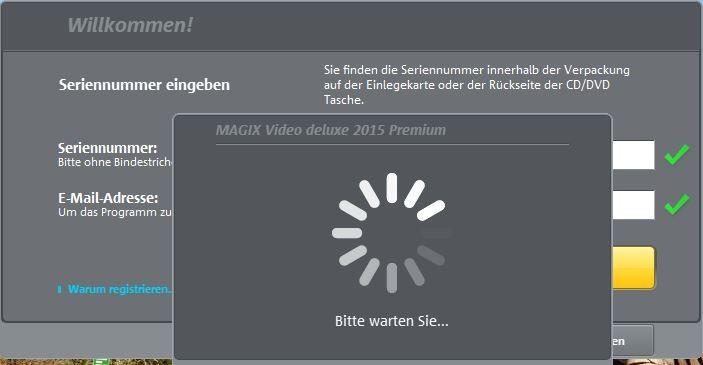 5abbb8b9c8a4cf Magix Deluxe 2015 Prem. hängt sich bei Registrierung auf o. stürzt ab