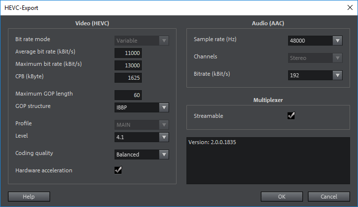 Hardware Acceleration for HEVC encoding