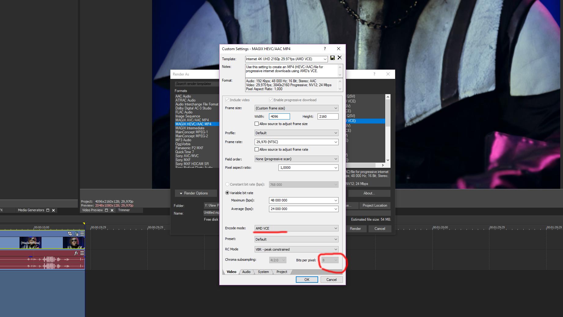 SOS! AMD VCE 10 bit encoding, Vegas Pro 16? Need help