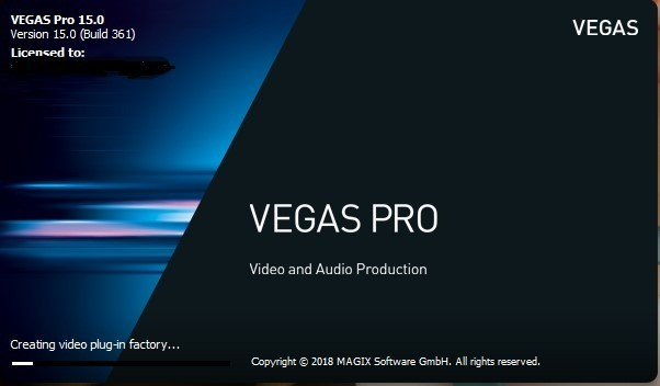 Vegas Pro 15 (Build 361) Glitch Bug