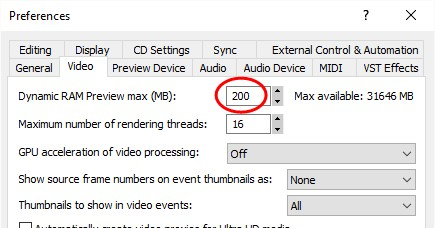 FAQ) How can I make my video preview play smoothly in VEGAS Pro?