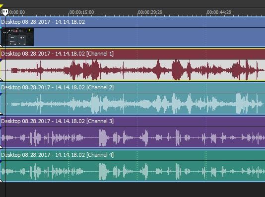 Video appear 4 audio tracks