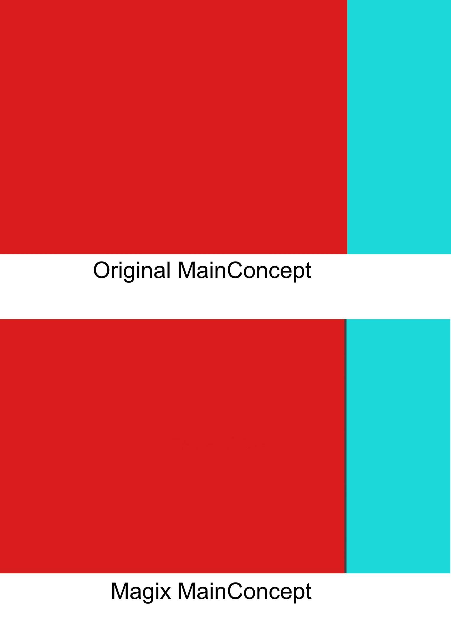 Magix Mainconcept AVC render quality problem