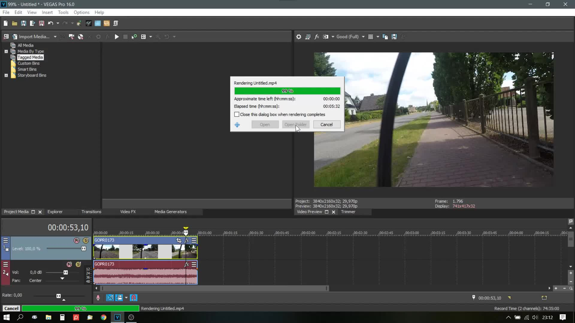 Vegas Pro 16 keeps rendering 0 byte files