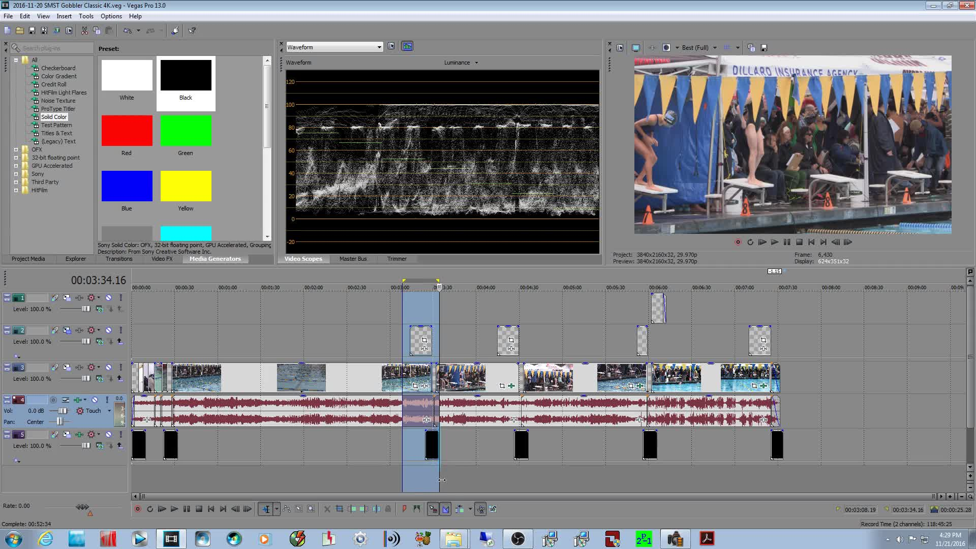 How to Render my project in 4k to put on a Hard drive for TV